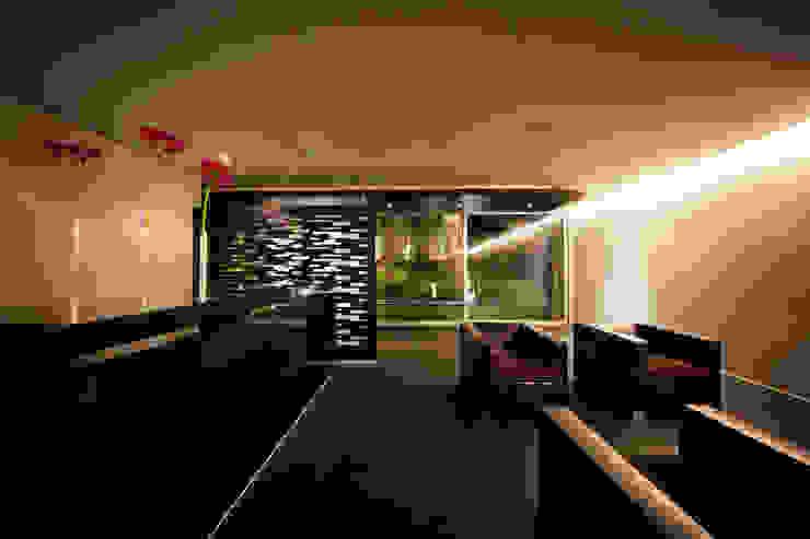 Projekty,  Salon zaprojektowane przez grupoarquitectura, Minimalistyczny