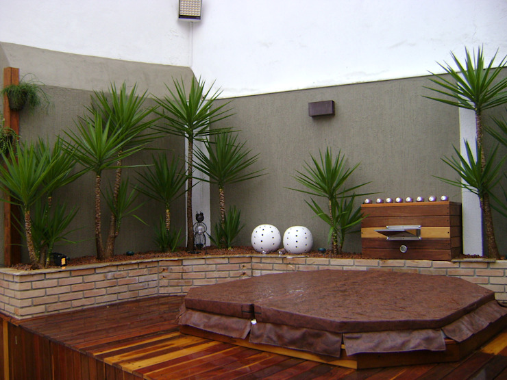 Vườn phong cách mộc mạc bởi MC3 Arquitetura . Paisagismo . Interiores Mộc mạc