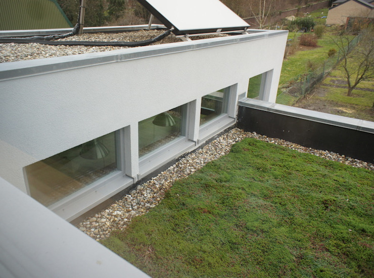 Casas modernas de Bureau d'Architectes Desmedt Purnelle Moderno