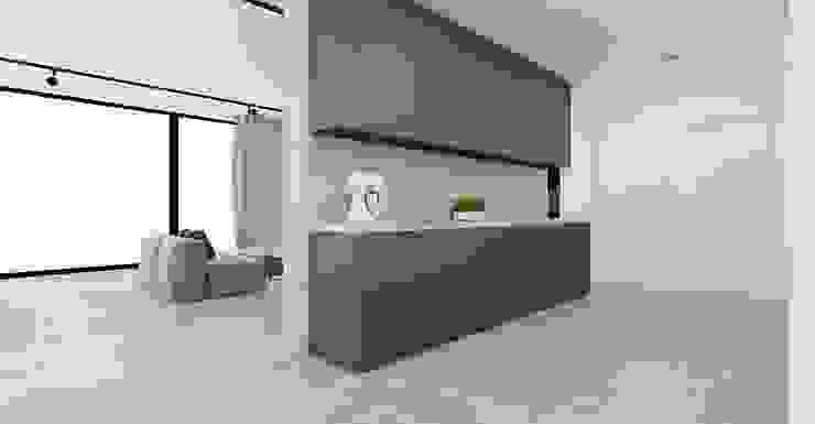 Apartament Bielsko-Biała Minimalistyczna kuchnia od Ale design Grzegorz Grzywacz Minimalistyczny