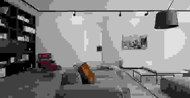 Apartament Bielsko-Biała Skandynawski salon od Ale design Grzegorz Grzywacz Skandynawski