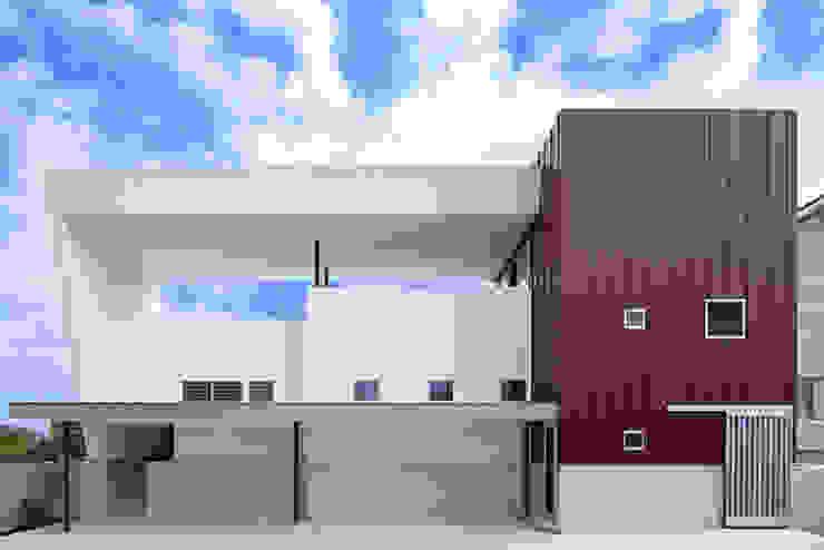 House-MSD【 White Rainbow -白虹- 】 モダンな 家 の bound-design モダン