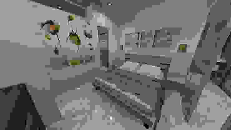 DORMITORIO, APARTAMENTO EN TENERIFE, ESPAÑA Grupo JOV Arquitectos DormitoriosCamas y cabeceras Madera Marrón