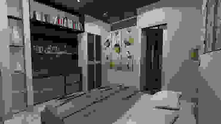 DORMITORIO, APARTAMENTO EN TENERIFE, ESPAÑA Grupo JOV Arquitectos DormitoriosClósets y cómodas Madera Marrón