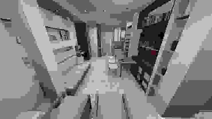 SALA RECIBO, APARTAMENTO EN TENERIFE, ESPAÑA Grupo JOV Arquitectos Salas/RecibidoresSofás y sillones Fibra natural Blanco