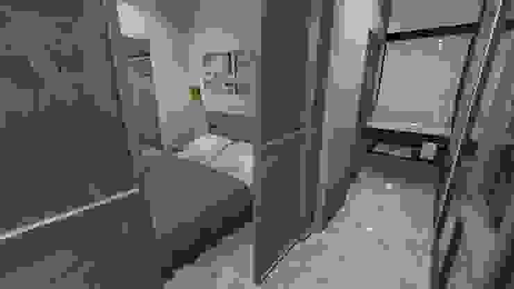 PASILLO, APARTAMENTO EN TENERIFE, ESPAÑA Grupo JOV Arquitectos Vestíbulos, pasillos y escalerasAccesorios y decoración Vidrio Transparente
