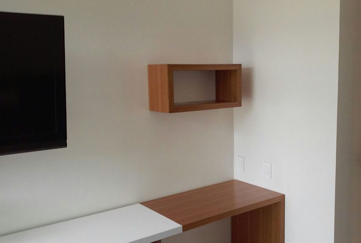 Muebles Apto. AM Demadera Caracas Oficinas de estilo moderno Blanco