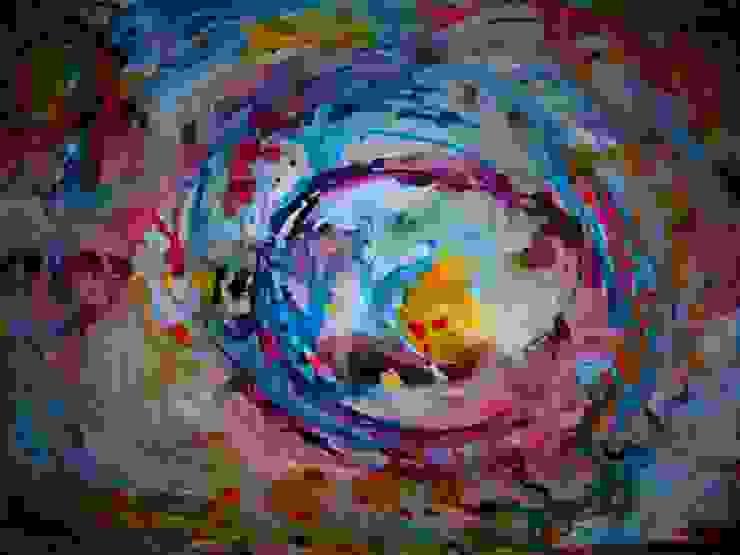Arte abstracto y multicolor de Adriana Filei Moderno Sintético Marrón
