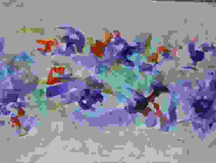 Abstracto de flores de Adriana Filei Moderno Sintético Marrón
