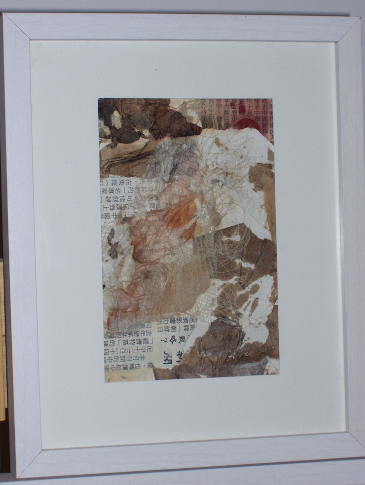 Arte abstracto textil de Adriana Filei Moderno Textil Ámbar/Dorado
