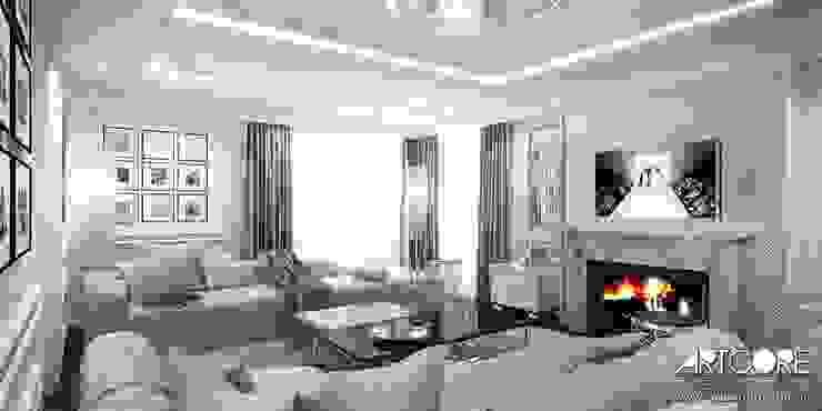 Гостиная в классическом стиле от ArtCore Design Классический