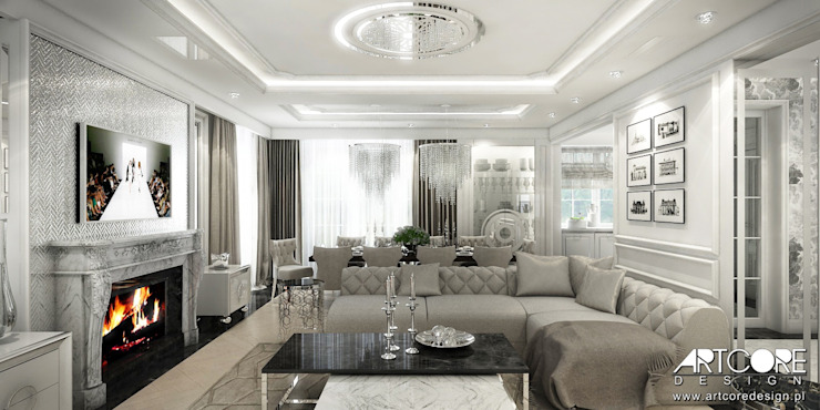 Living room by ArtCore Design, Classic