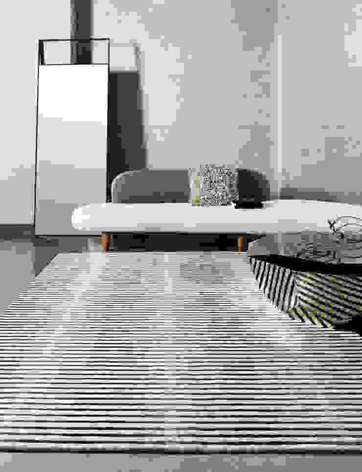 [디자인카페트,모던카페트,스트라이프카페트] ONDEAR: CAURA CARPET의 현대 ,모던 천연 섬유 베이지