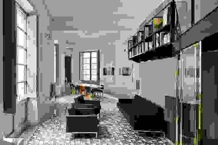 Vivienda Avinyó Salones de estilo industrial de Brick Serveis d'Interiorisme S.L. Industrial