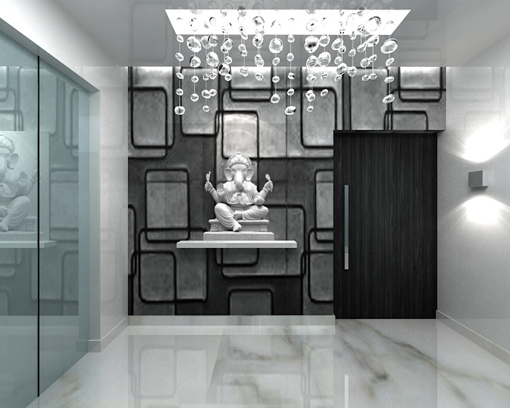 RESIDENTIAL INTERIOR, MYSORE. (www.depanache.in):  Corridor & hallway by De Panache  - Interior Architects,