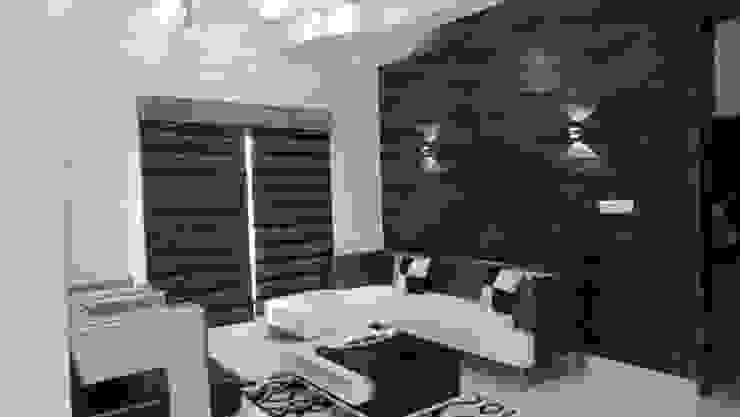 RESIDENTIAL INTERIOR, MYSORE. (www.depanache.in) Modern living room by De Panache - Interior Architects Modern Stone