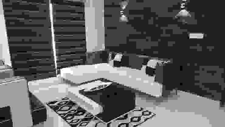 RESIDENTIAL INTERIOR, MYSORE. (www.depanache.in) Modern living room by De Panache - Interior Architects Modern
