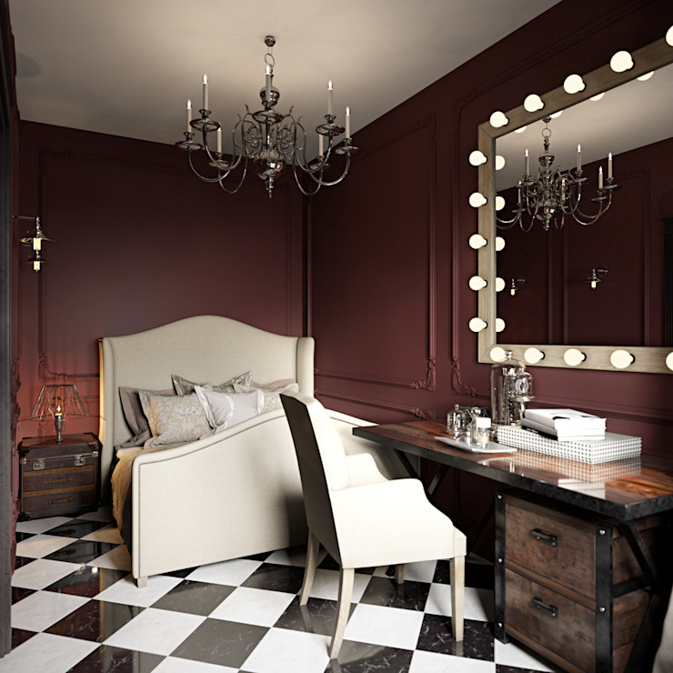غرفة نوم تنفيذ Студия дизайна интерьера Маши Марченко, كلاسيكي