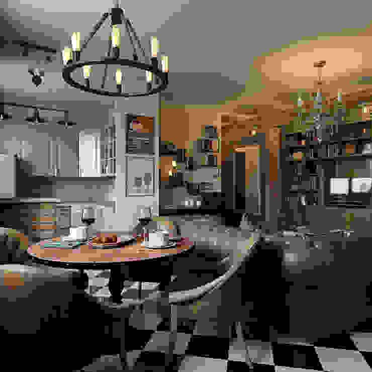 Интерьер квартиры 40 кв.м. в Мурманске Гостиная в классическом стиле от Студия дизайна интерьера Маши Марченко Классический