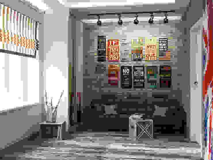 Salones industriales de Студия дизайна интерьера Маши Марченко Industrial