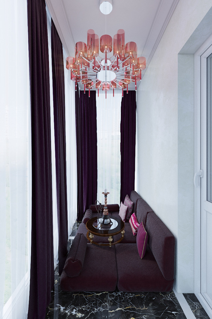 Classic style balcony, veranda & terrace by Студия дизайна интерьера Маши Марченко Classic