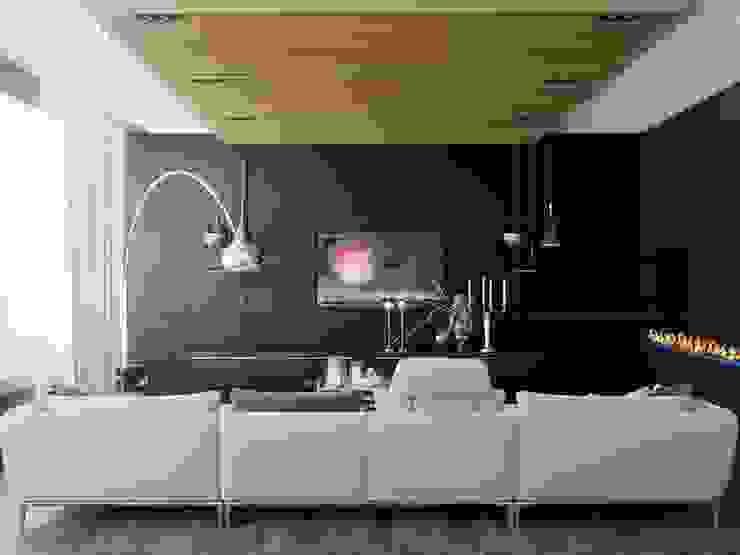 Minimalist living room by Студия дизайна интерьера Маши Марченко Minimalist