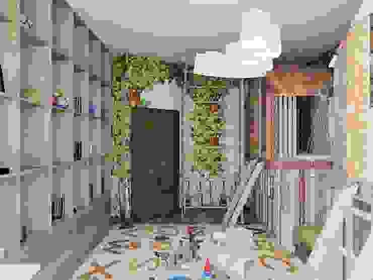 Minimalist nursery/kids room by Студия дизайна интерьера Маши Марченко Minimalist