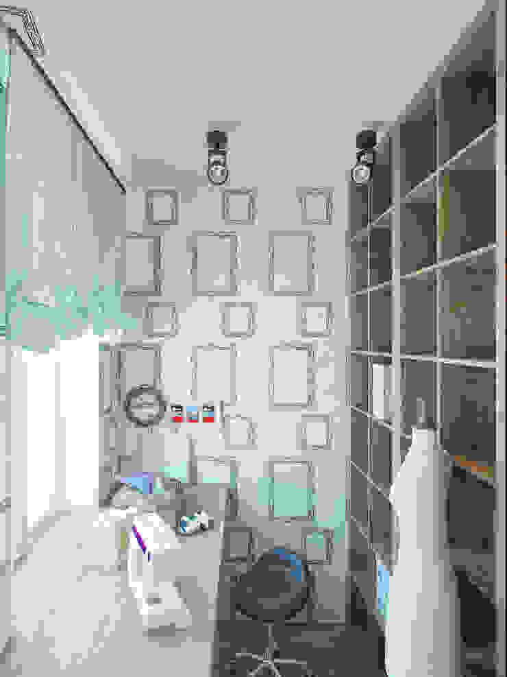 Minimalist study/office by Студия дизайна интерьера Маши Марченко Minimalist