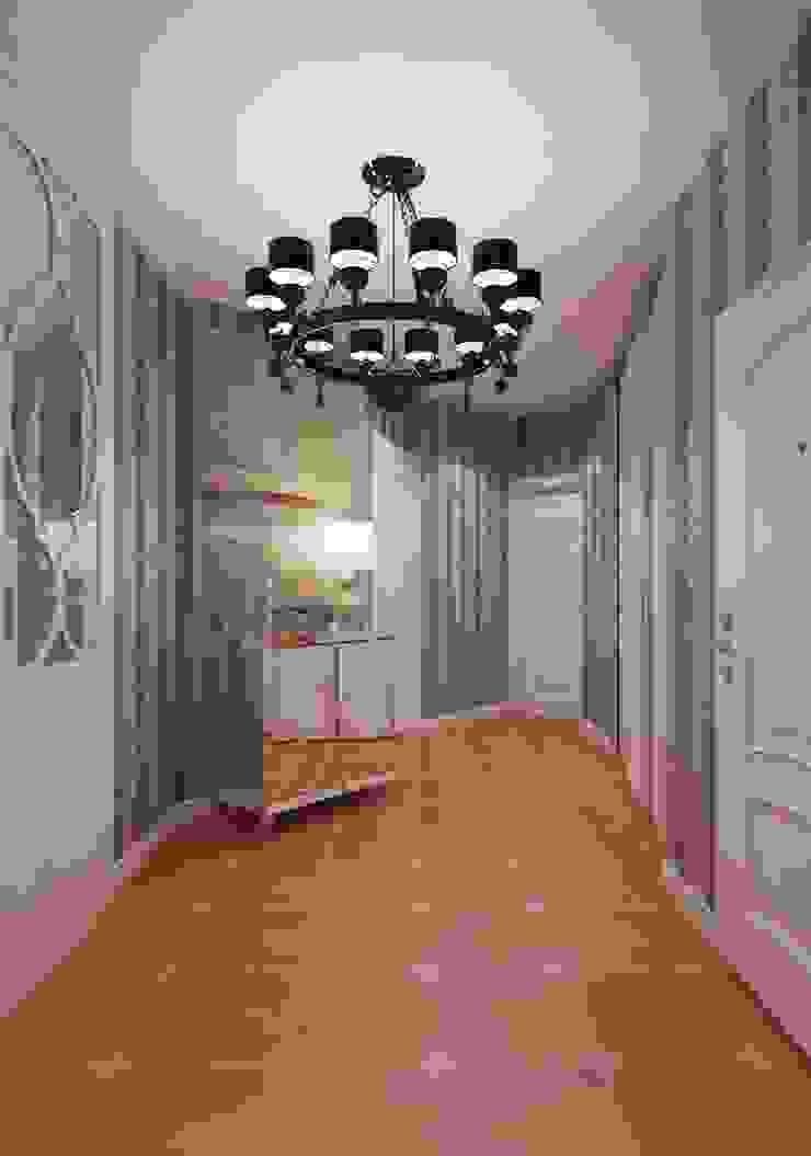 Minimalist corridor, hallway & stairs by Студия дизайна интерьера Маши Марченко Minimalist