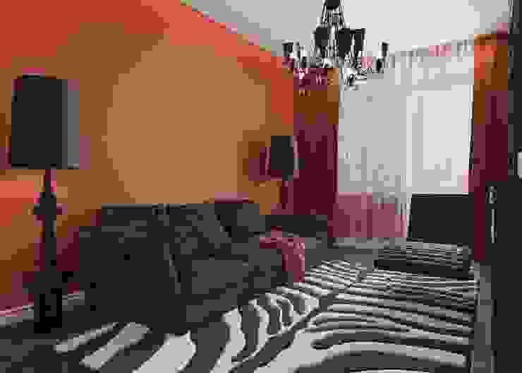Квартира в ЖК «Новая Династия» Гостиная в стиле минимализм от Студия дизайна интерьера Маши Марченко Минимализм