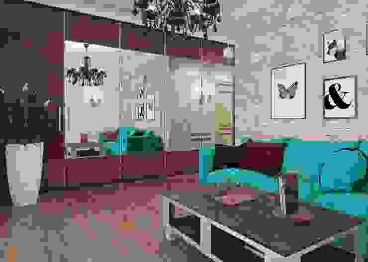 Salas de estilo minimalista de Студия дизайна интерьера Маши Марченко Minimalista