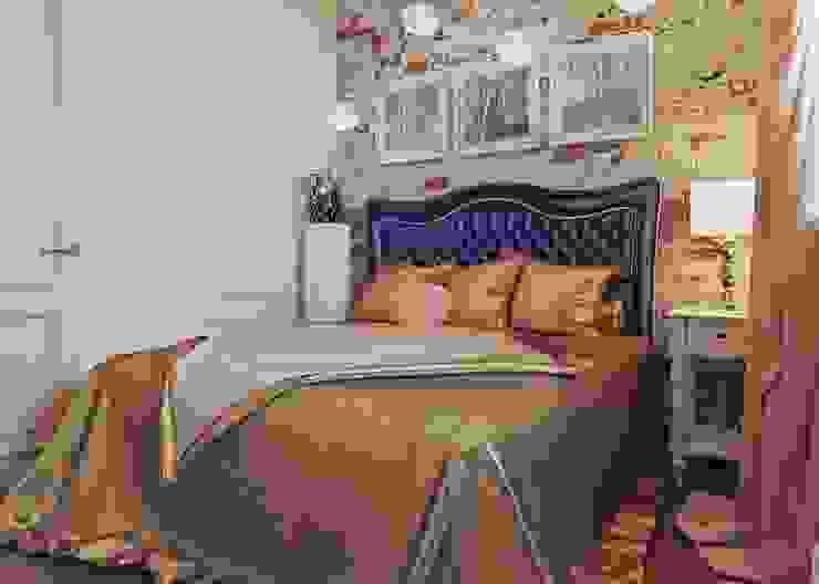 Просторная квартира на ул. Дыбенко Студия дизайна интерьера Маши Марченко Спальня в стиле минимализм