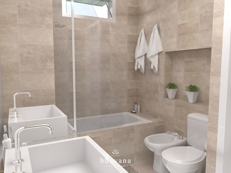 Scandinavian style bathroom by Bhavana Scandinavian