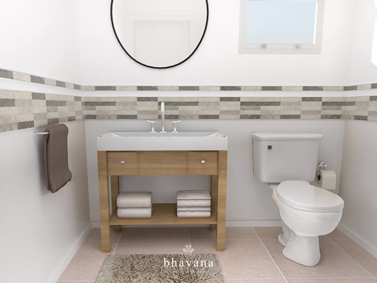 Salle de bain scandinave par Bhavana Scandinave