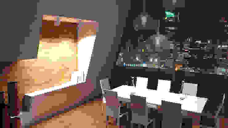 Interiores 3D Render Atahualpa 3D ComedorIluminación Madera Marrón