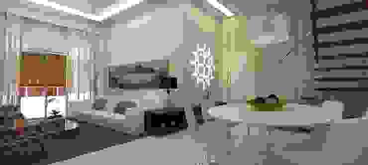 Sala Salas de estar ecléticas por L N arquitetos Eclético Madeira Efeito de madeira