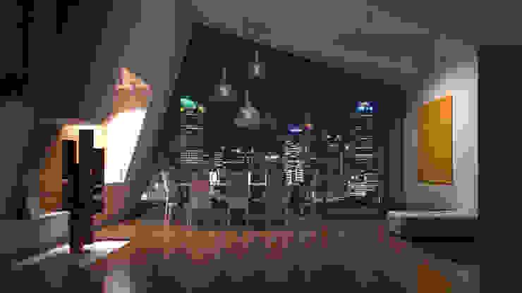 Interiores 3D Render de Atahualpa 3D Moderno Madera Acabado en madera