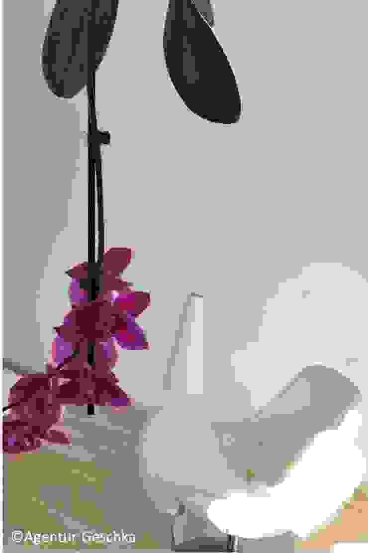 Münchner home staging Agentur GESCHKA Study/officeAccessories & decoration White