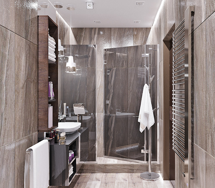 Студия дизайна ROMANIUK DESIGN Industrial style bathroom