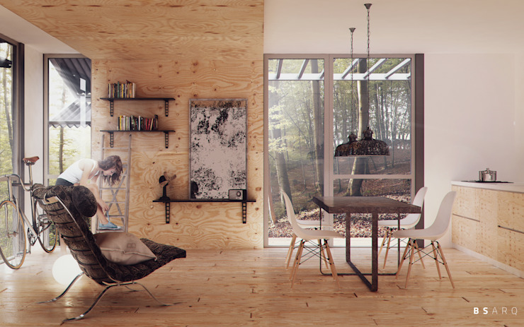 Living room by BS ARQ, Minimalist Wood Wood effect
