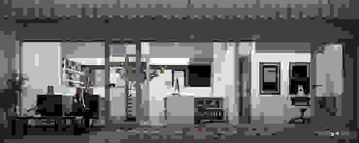 Estudio Bianchi + Faerman Arquitectos Balcones y terrazas minimalistas de BS ARQ Minimalista Concreto reforzado