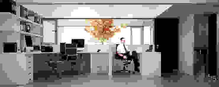 Estudio Bianchi + Faerman Arquitectos Estudios y oficinas minimalistas de BS ARQ Minimalista Concreto reforzado