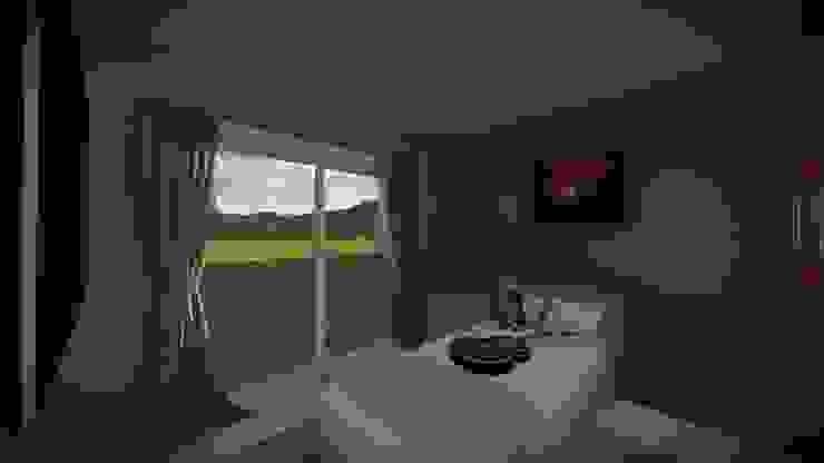 Dormitorio de Estudio DB Arquitectura Rústico