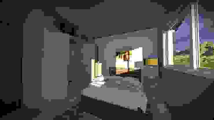 Dormitorio de Arq. Diego Barragán Rústico