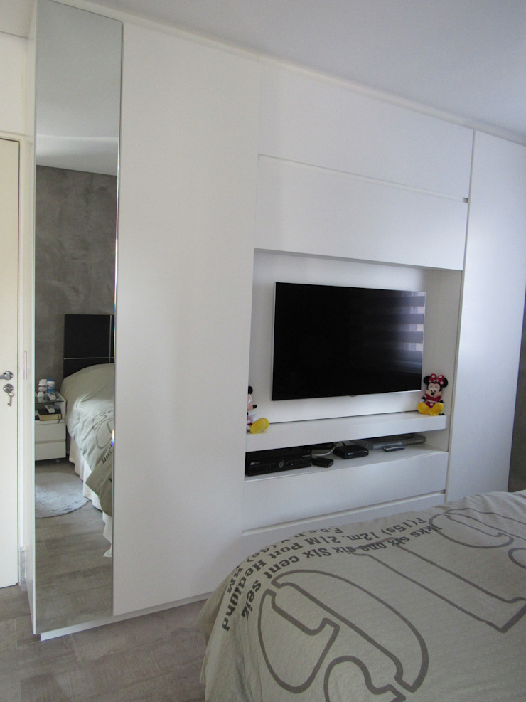 Escritório de Arquitetura Cláudia Mendonça Industrial style bedroom