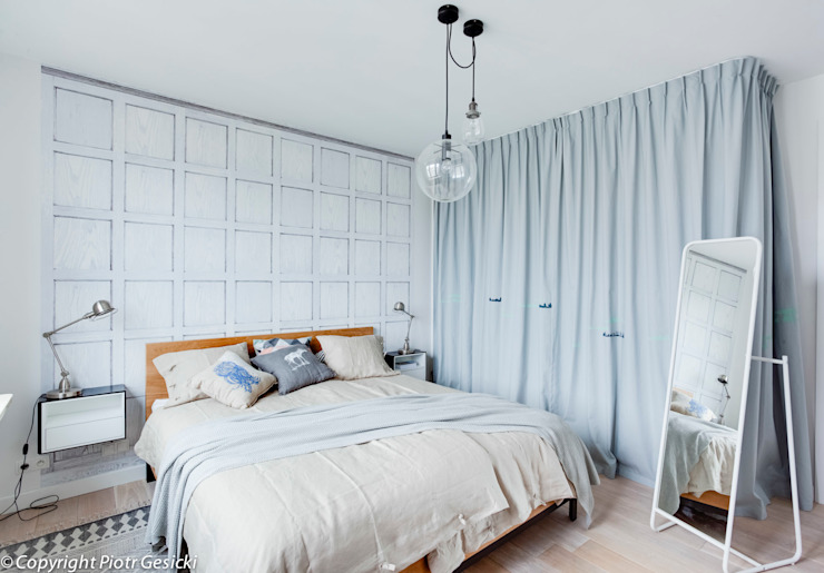 스칸디나비아 침실 by Loft Factory 북유럽