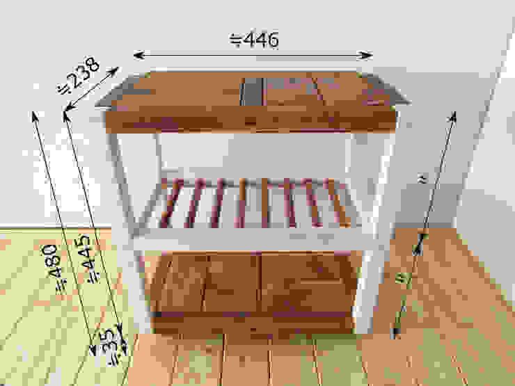 サイドテーブル(キャスター付き): 作房和樂(サボウワラク)が手掛けた折衷的なです。,オリジナル