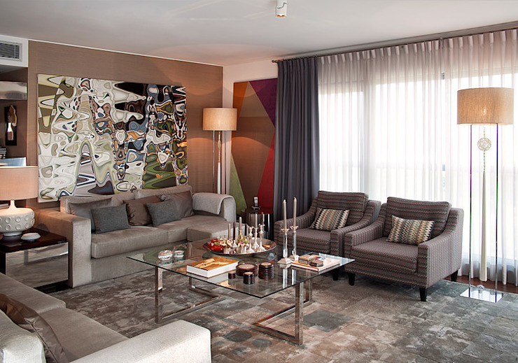 APARTAMENTO CAMPO GRANDE Salas de estar modernas por Artica by CSS Moderno