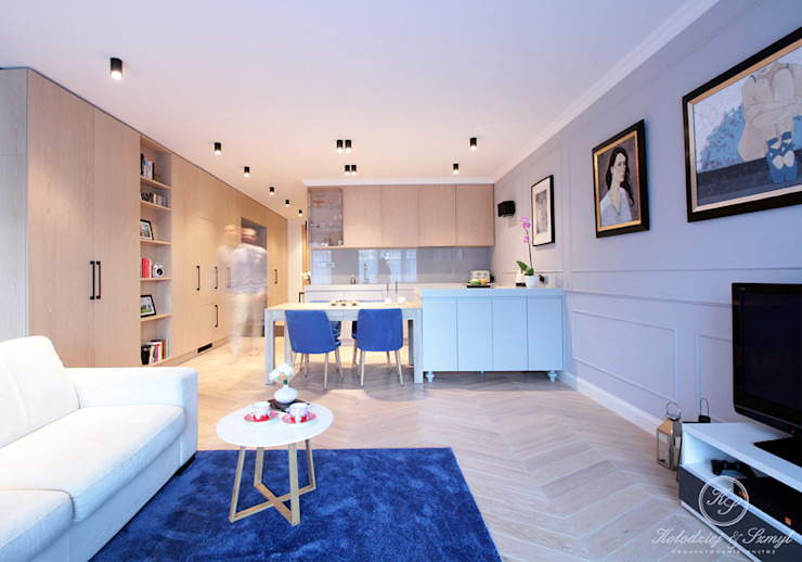 NAVY: styl , w kategorii Salon zaprojektowany przez Kołodziej & Szmyt Projektowanie wnętrz,Eklektyczny