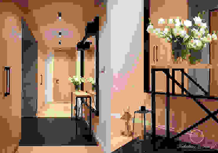 NAVY Eklektyczny korytarz, przedpokój i schody od Kołodziej & Szmyt Projektowanie wnętrz Eklektyczny